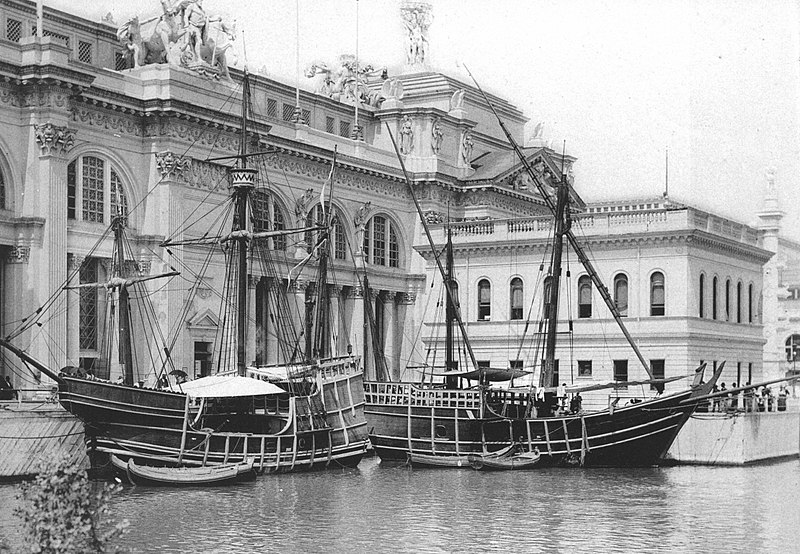 800px-The_Nina_And_Pinta_—_Official_Views_Of_The_World's_Columbian_Exposition_—_86